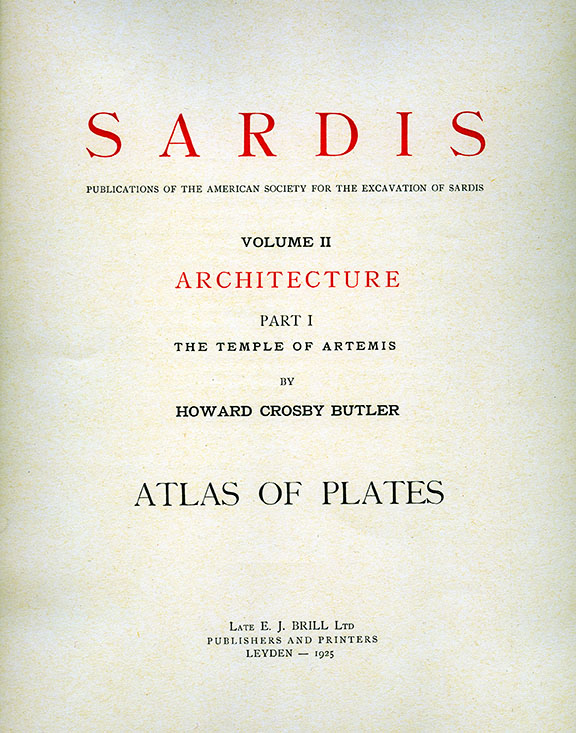 Sardis Volume II: Architecture, Part I: The Temple of Artemis (Plates)