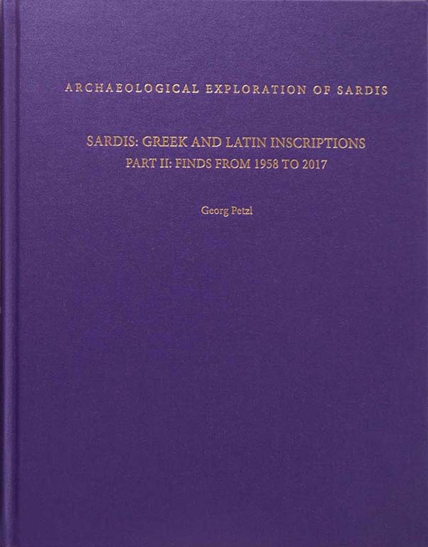 M14: Sardis: Greek and Latin Inscriptions, Part II: Finds from 1958 to 2017